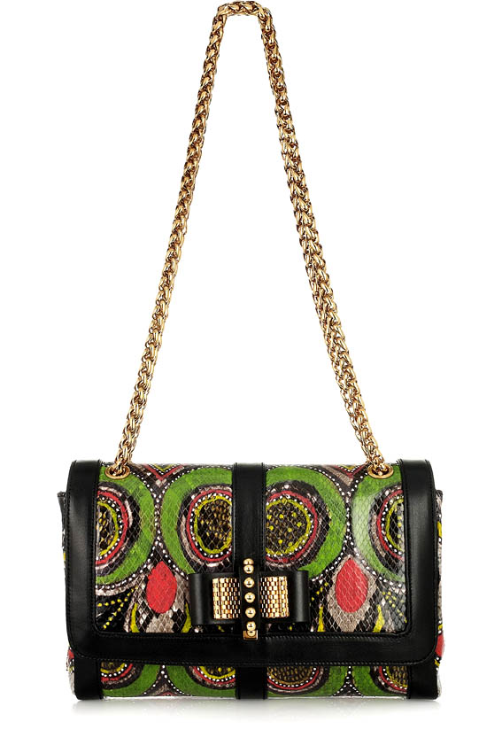 Bag check Sweet Charity small print shoulder handbag at the fancy French
