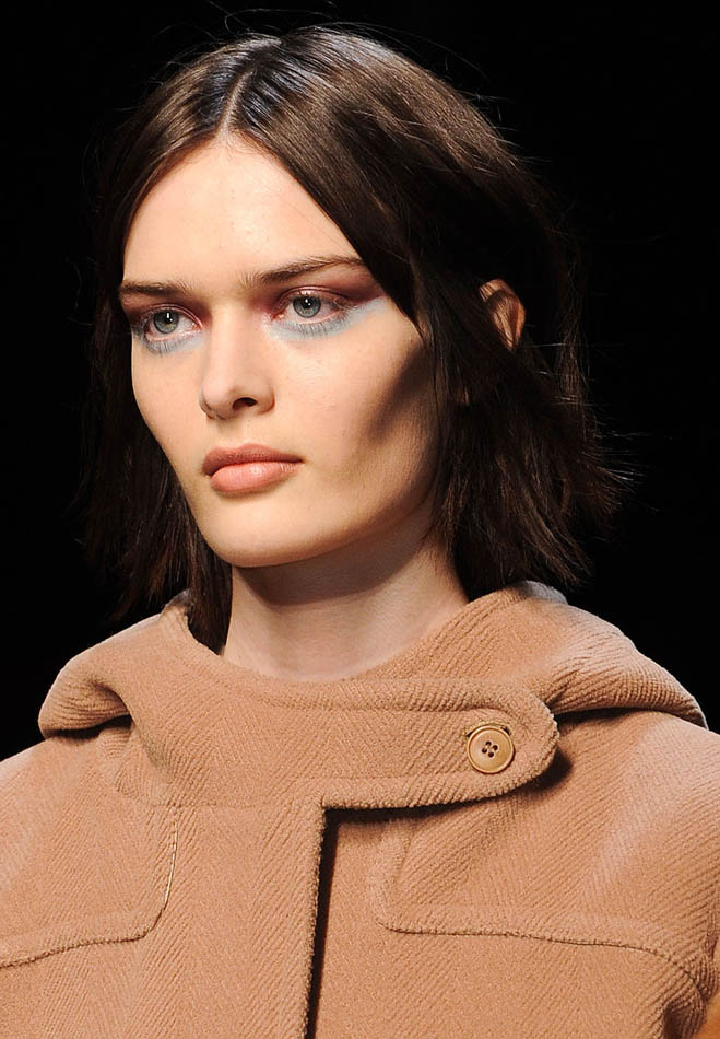 Max Marra coat and model close-up