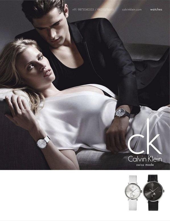 Laura Stone Calvin Klein Swiss Watch Ad