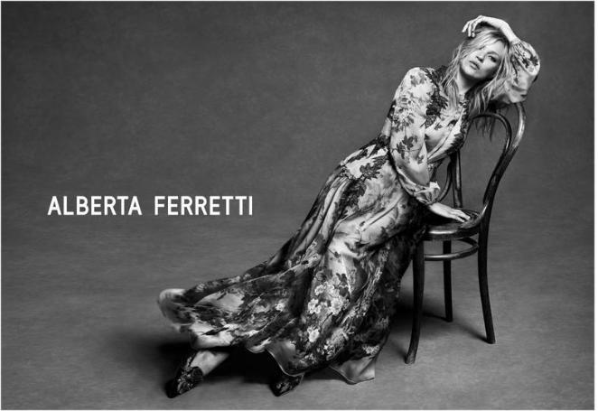 Kate Moss with Alberta Ferretti