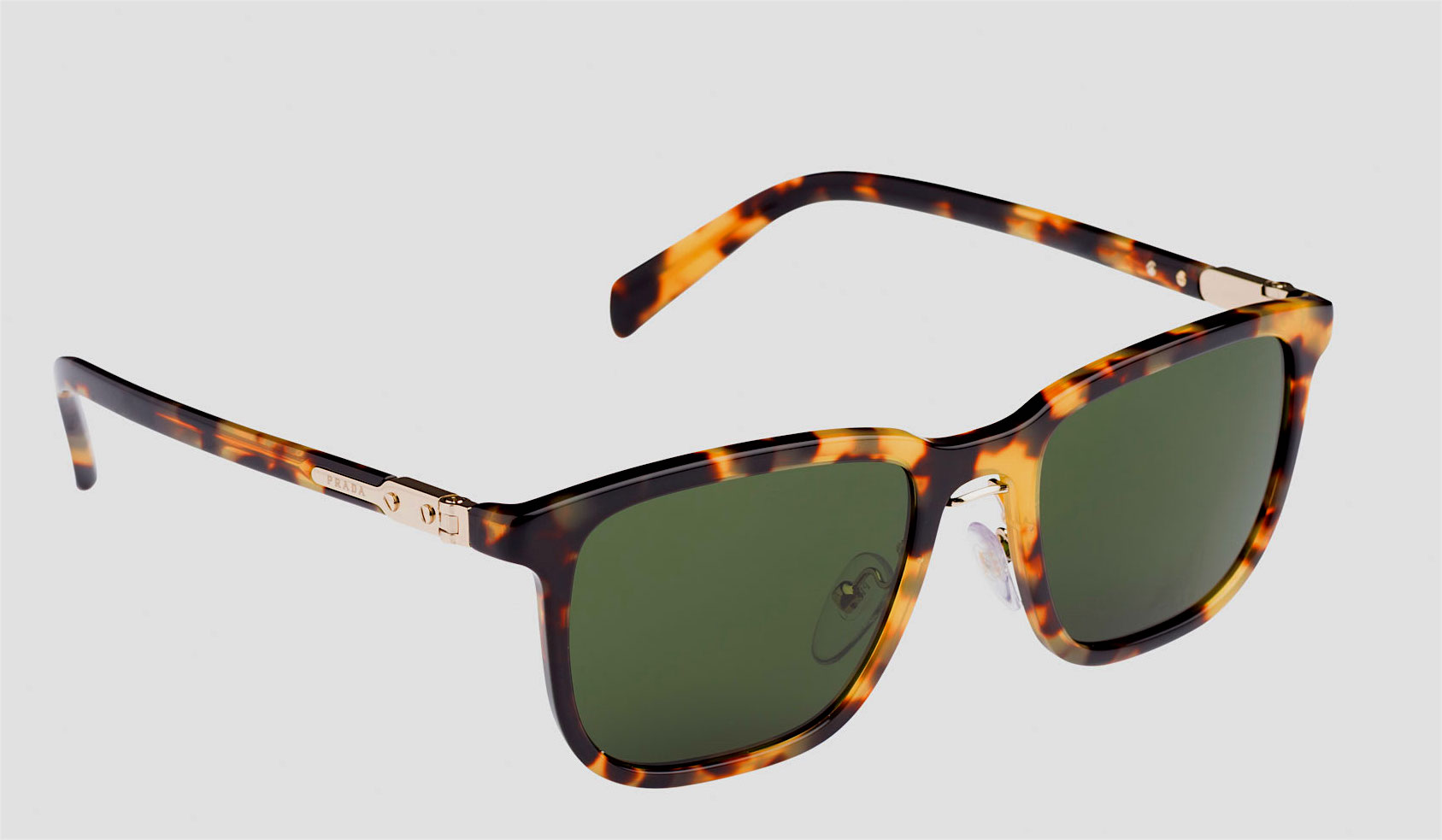 Men's large square acetate sunglasses. Flat lenses