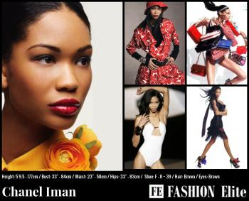 Chanel Iman Comp Card