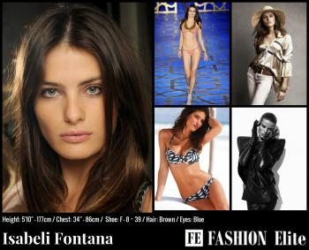 Isabeli Fontana Comp Card