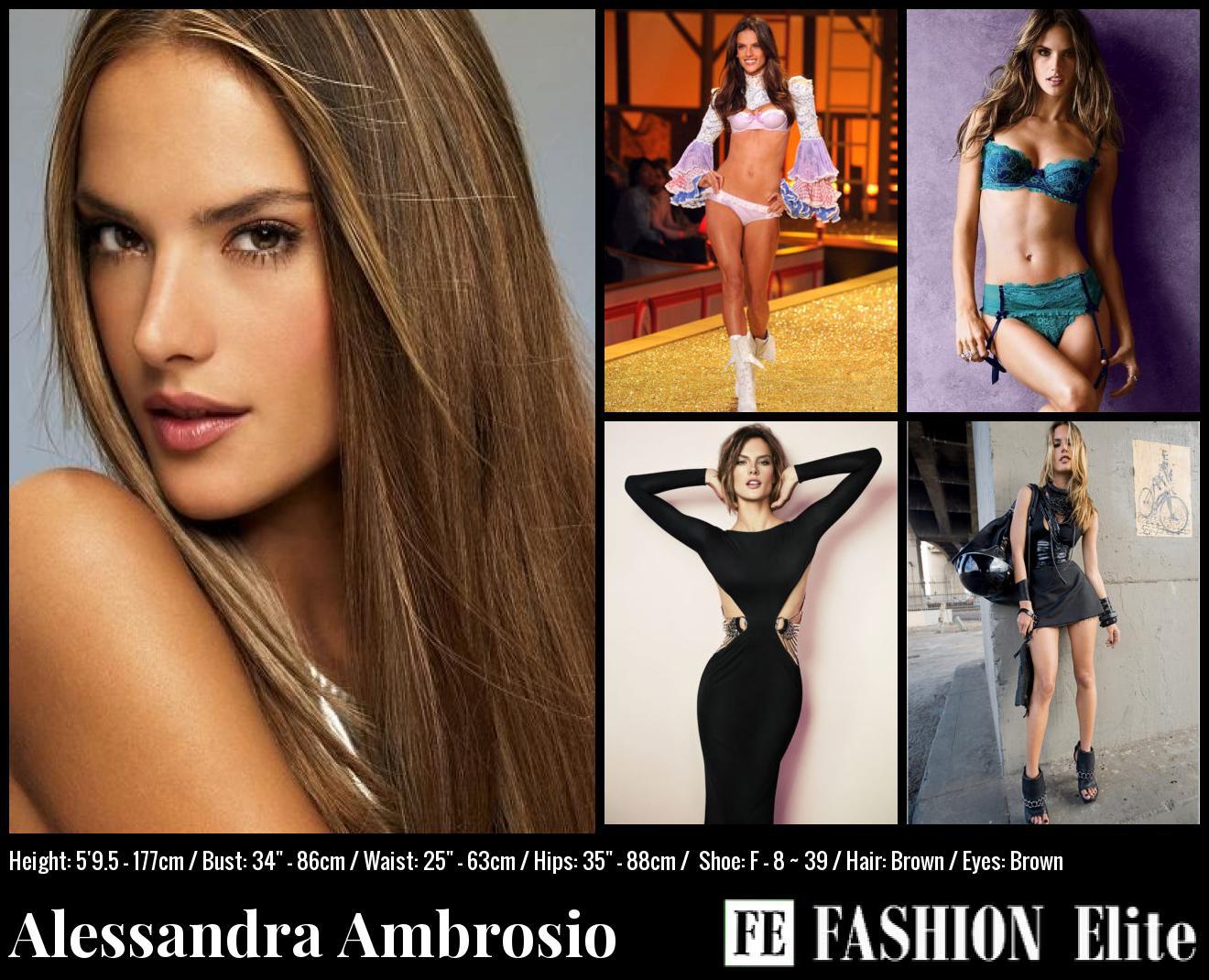 Alessandra Ambrosio Comp Card