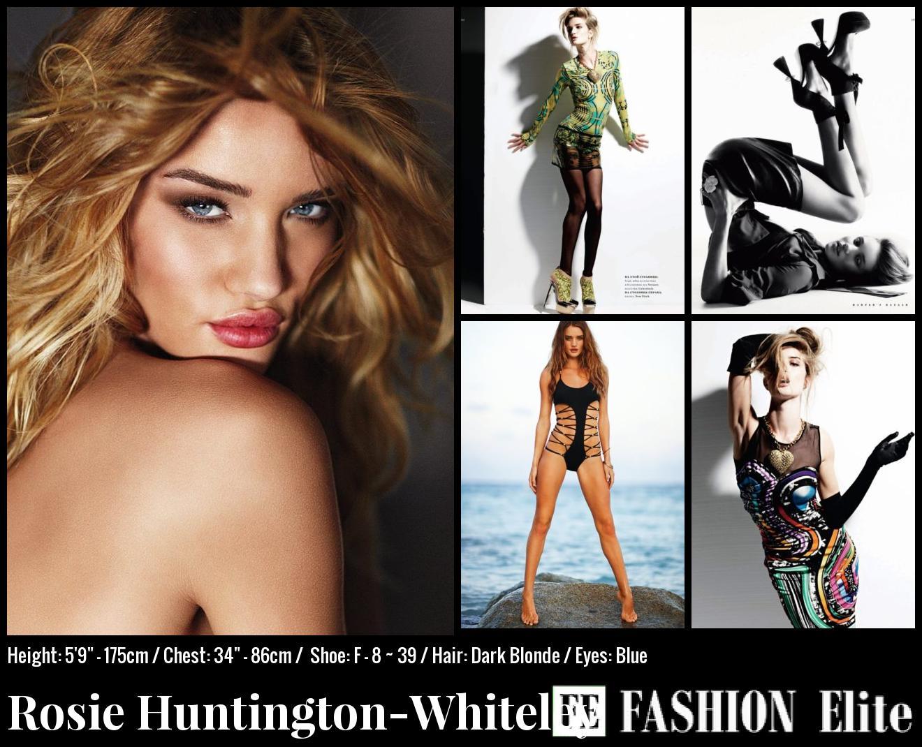 Rosie Huntington-Whiteley Comp Card