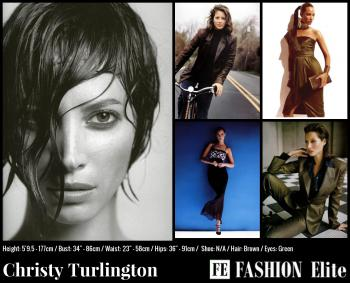 Christy Turlington Comp Card