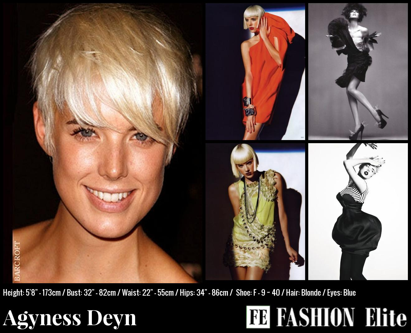 Agyness Deyn Comp Card