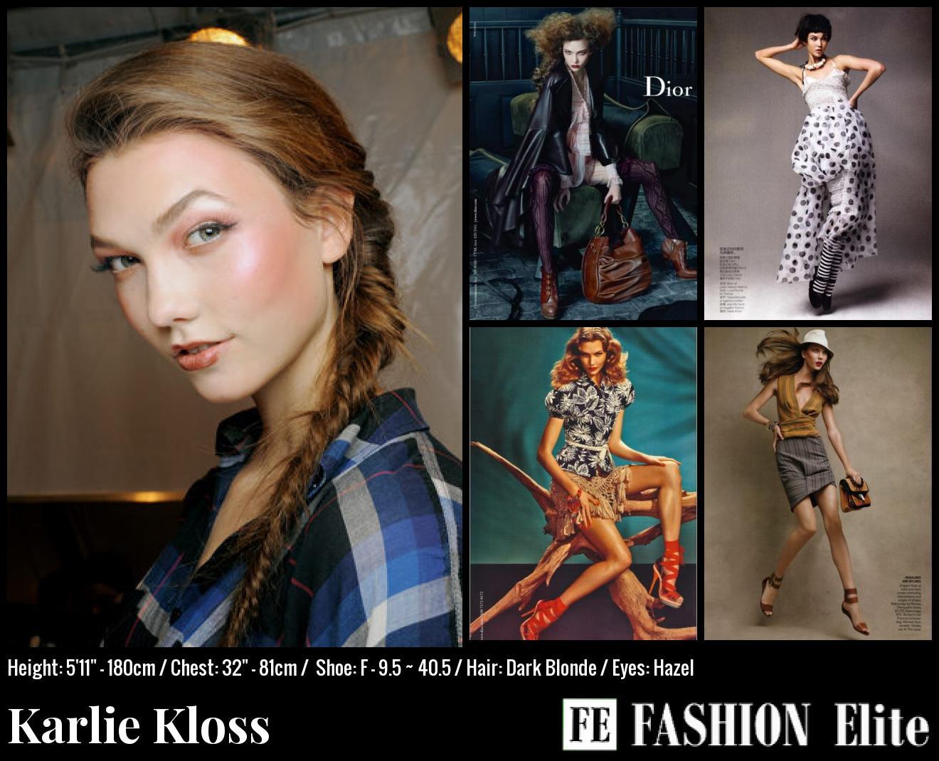 Karlie Kloss Comp Card