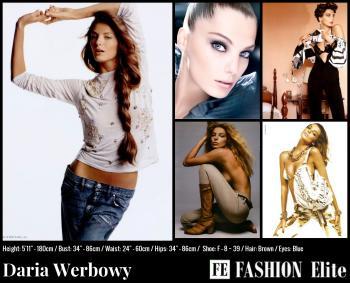 Daria Werbowy Comp Card