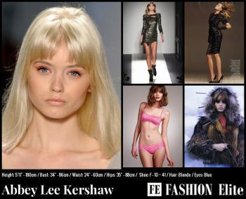 Abbey Lee Kershaw Comp Card