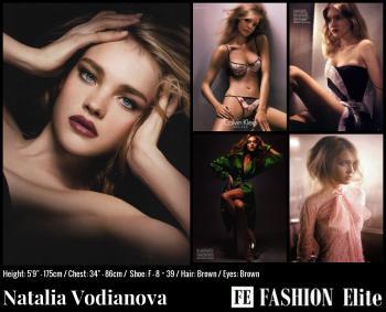 Natalia Vodianova Comp Card